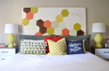 diy-headboard-hexagon-painted-kreg-slider